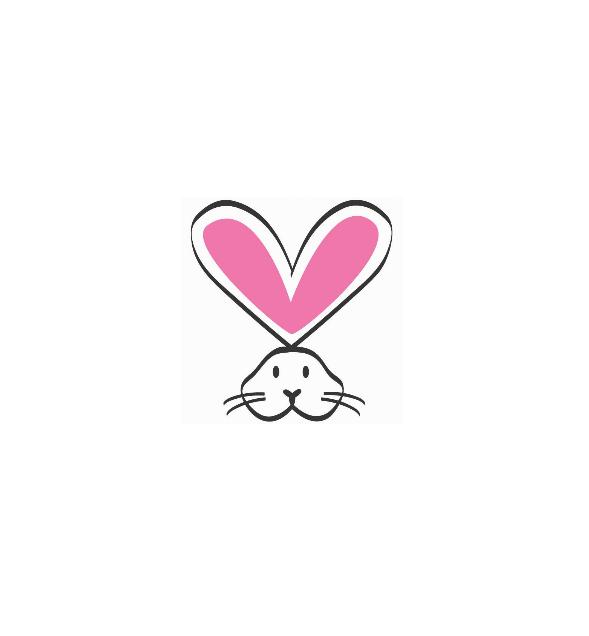 logo lapin rose de PETA crueltyfree and vegan