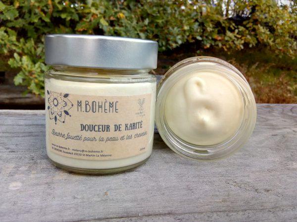 douceur de karité est un beurre fouetté de karité bio végane vegan
